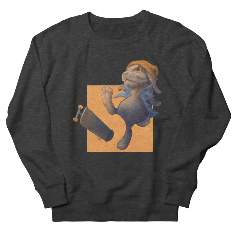 Skate Bunny Women's French Terry Sweatshirt by Michelle Wynn's Artist Shop