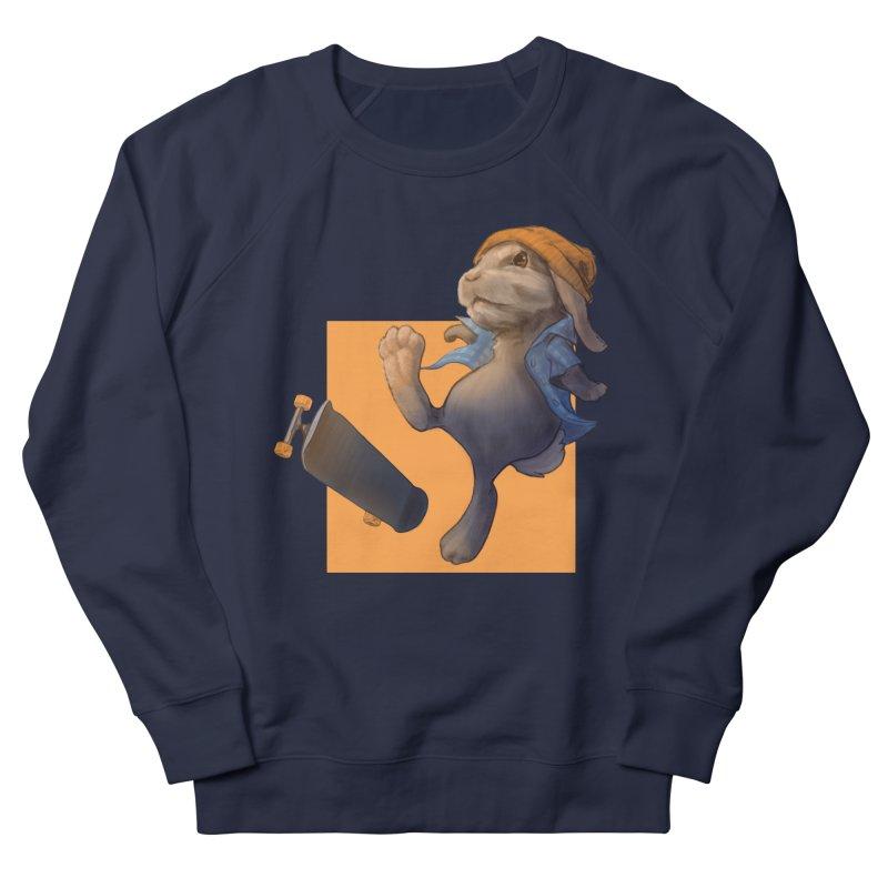 Skate Bunny Men's French Terry Sweatshirt by Michelle Wynn's Artist Shop