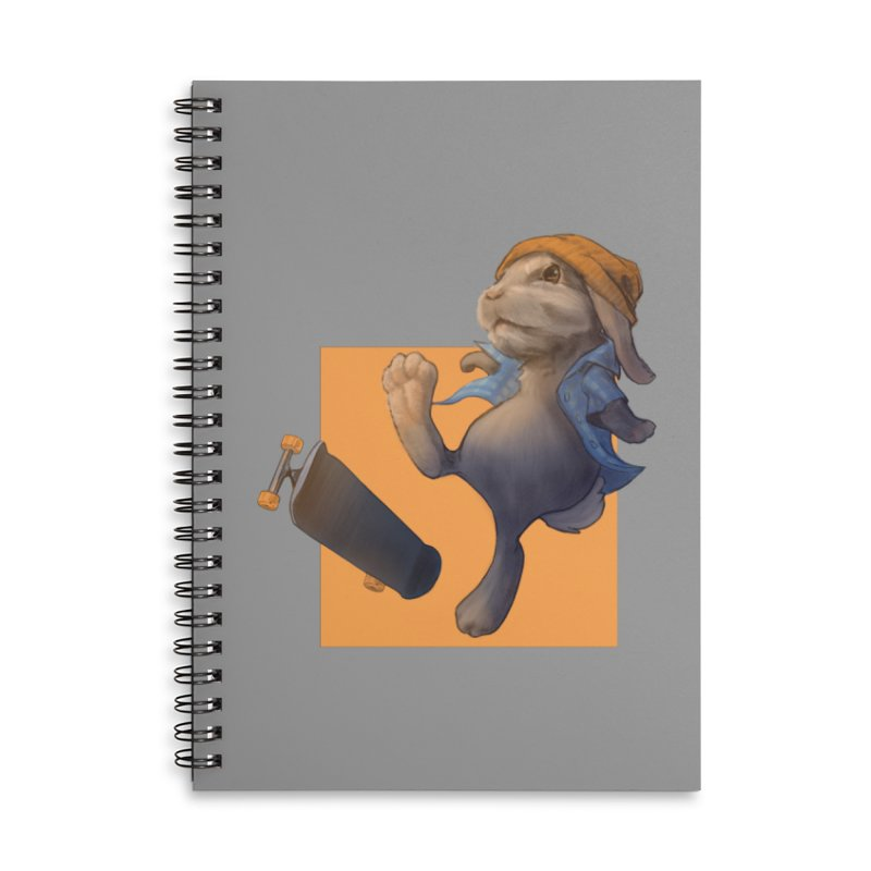 Skate Bunny Accessories Lined Spiral Notebook by Michelle Wynn's Artist Shop