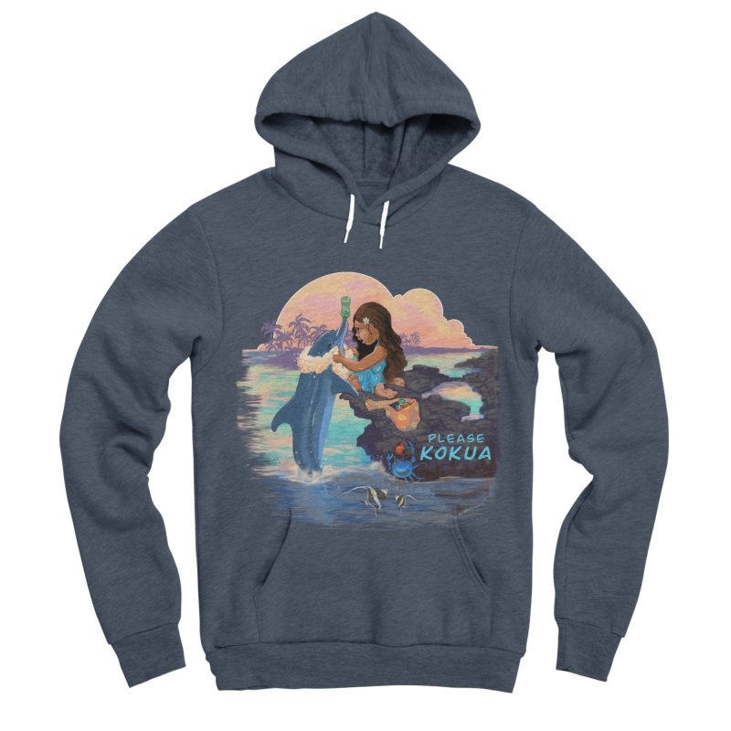 Beach Clean-up Men's Sponge Fleece Pullover Hoody by Michelle Wynn's Artist Shop