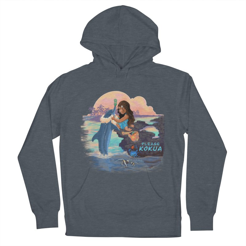 Beach Clean-up Women's French Terry Pullover Hoody by Michelle Wynn's Artist Shop