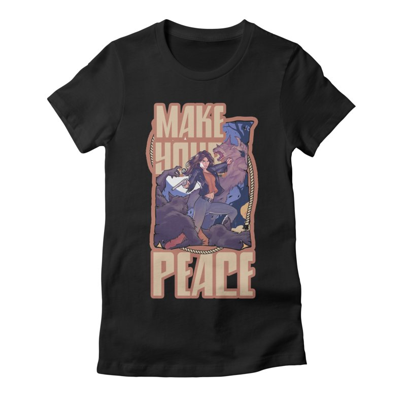 Peacemaker Women's Fitted T-Shirt by wynonnaearp's Artist Shop