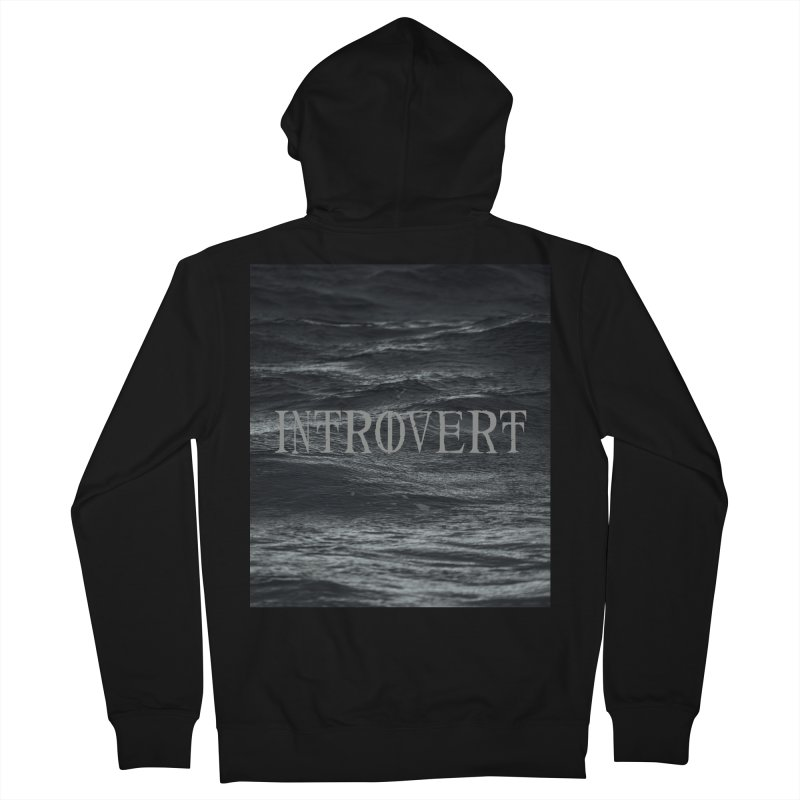 Introvert Men's French Terry Zip-Up Hoody by True To My Wyrd's Artist Shop