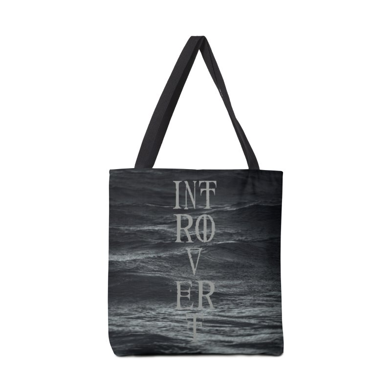 Introvert Accessories Tote Bag Bag by True To My Wyrd's Artist Shop