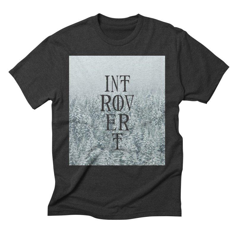 Introvert Men's Triblend T-Shirt by True To My Wyrd's Artist Shop