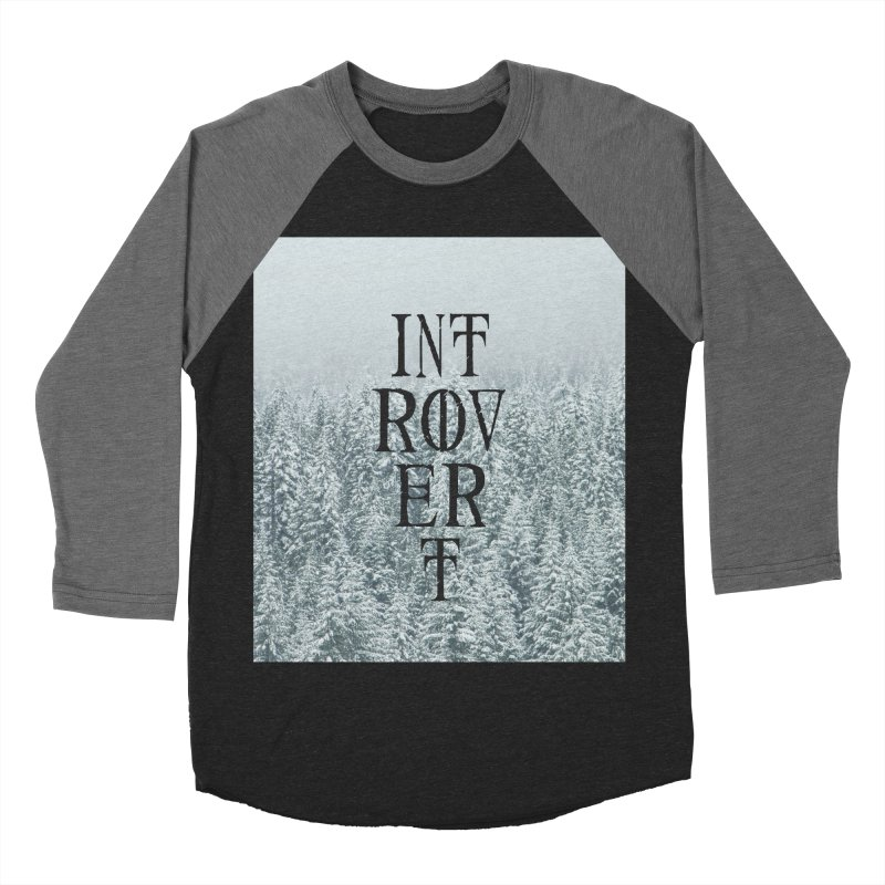 Introvert Men's Baseball Triblend Longsleeve T-Shirt by True To My Wyrd's Artist Shop