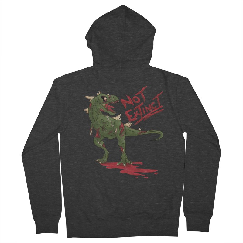 Zombie Rex Women's Zip-Up Hoody by xanderlewis's Artist Shop