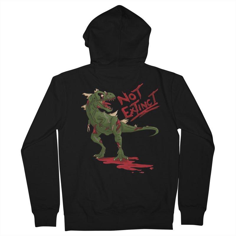 Zombie Rex Men's Zip-Up Hoody by xanderlewis's Artist Shop
