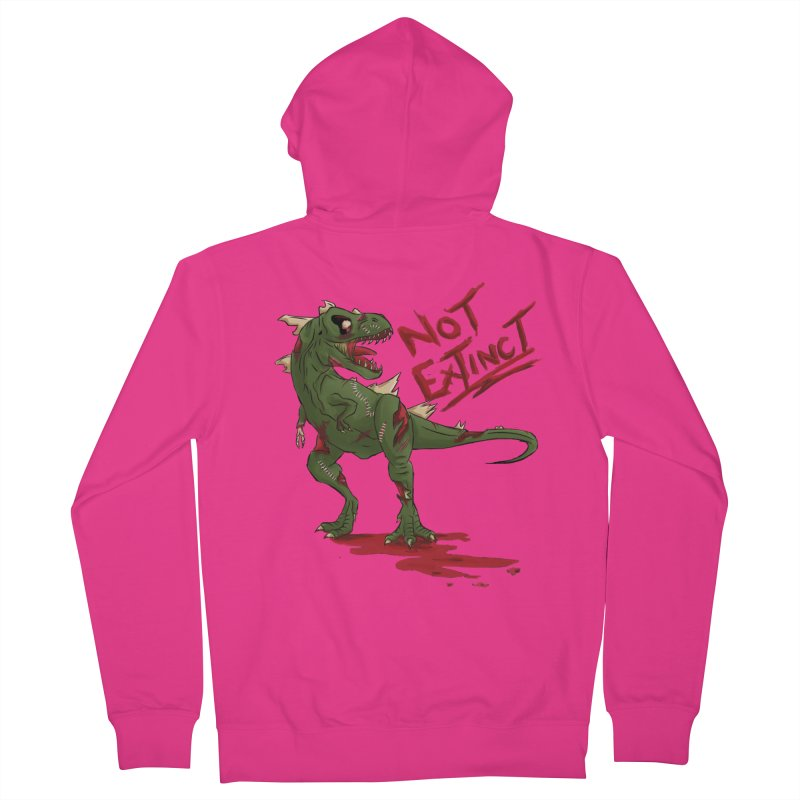 Zombie Rex Men's Zip-Up Hoody by xanderlewis's Artist Shop