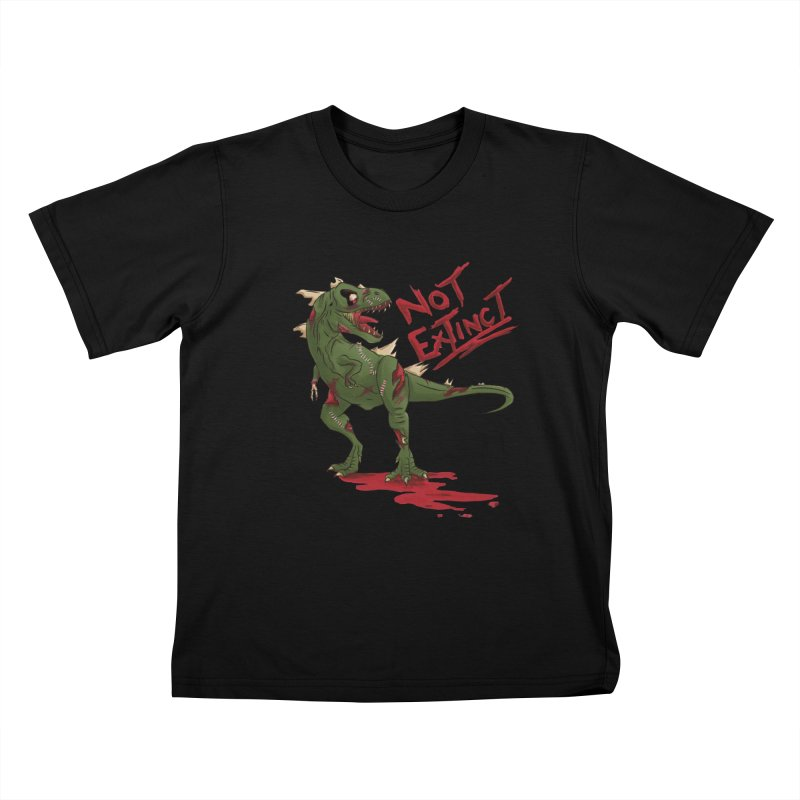 Zombie Rex Kids T-Shirt by xanderlewis's Artist Shop
