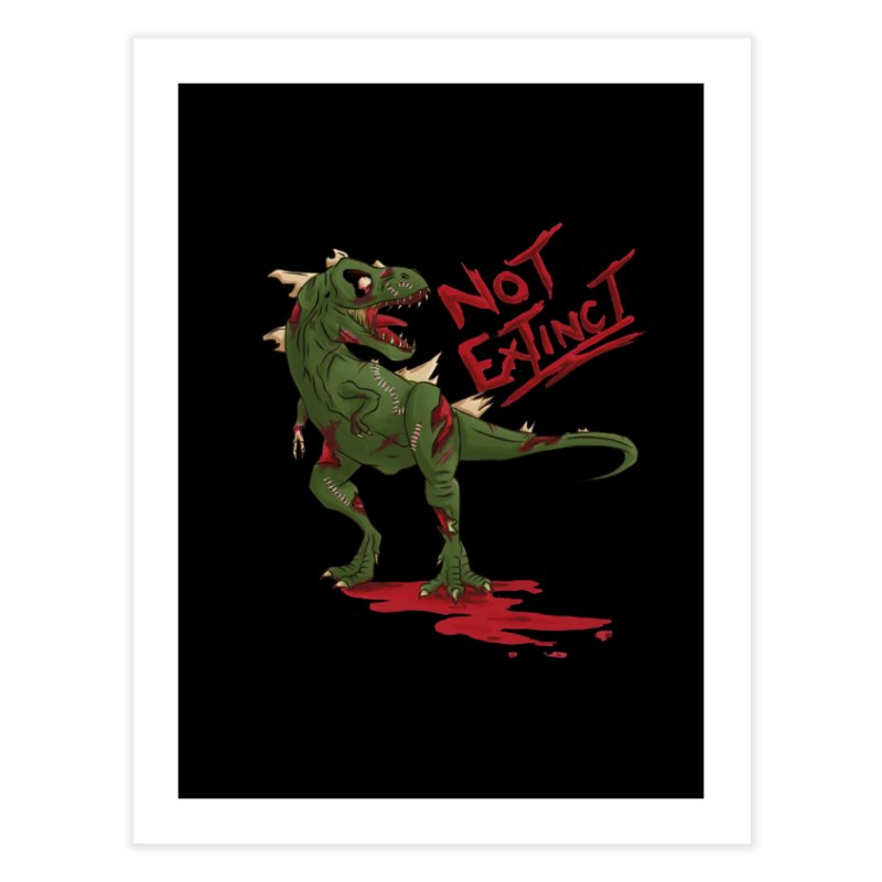 Zombie Rex Home Fine Art Print by xanderlewis's Artist Shop