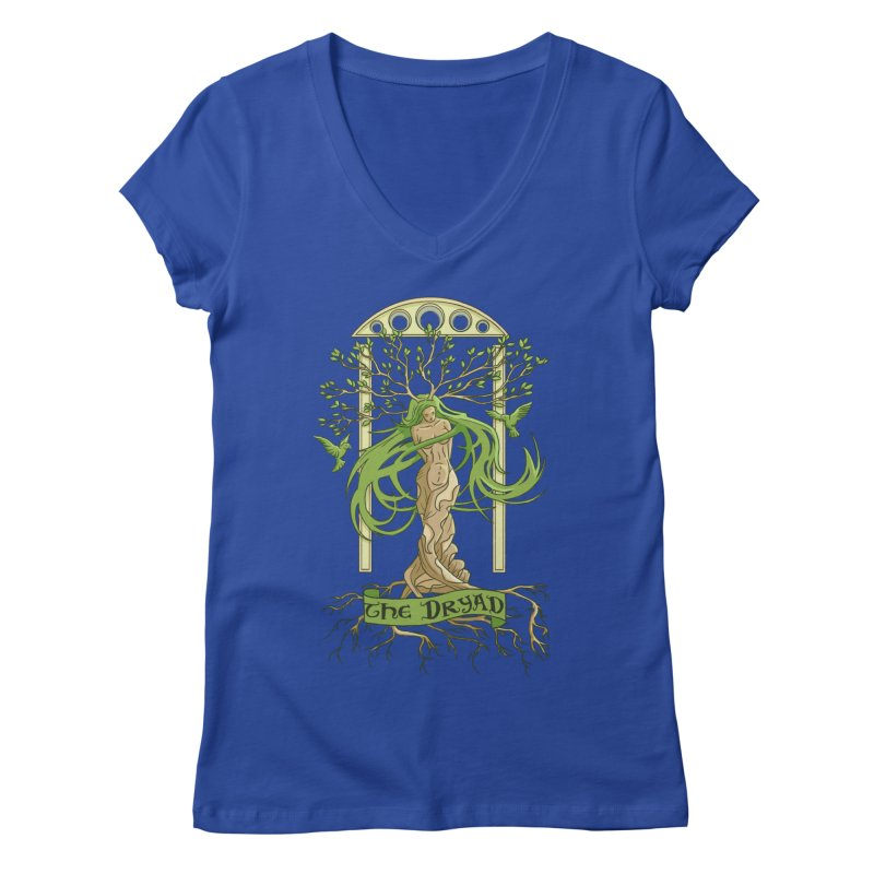The Dryad Women's V-Neck by xanderlewis's Artist Shop