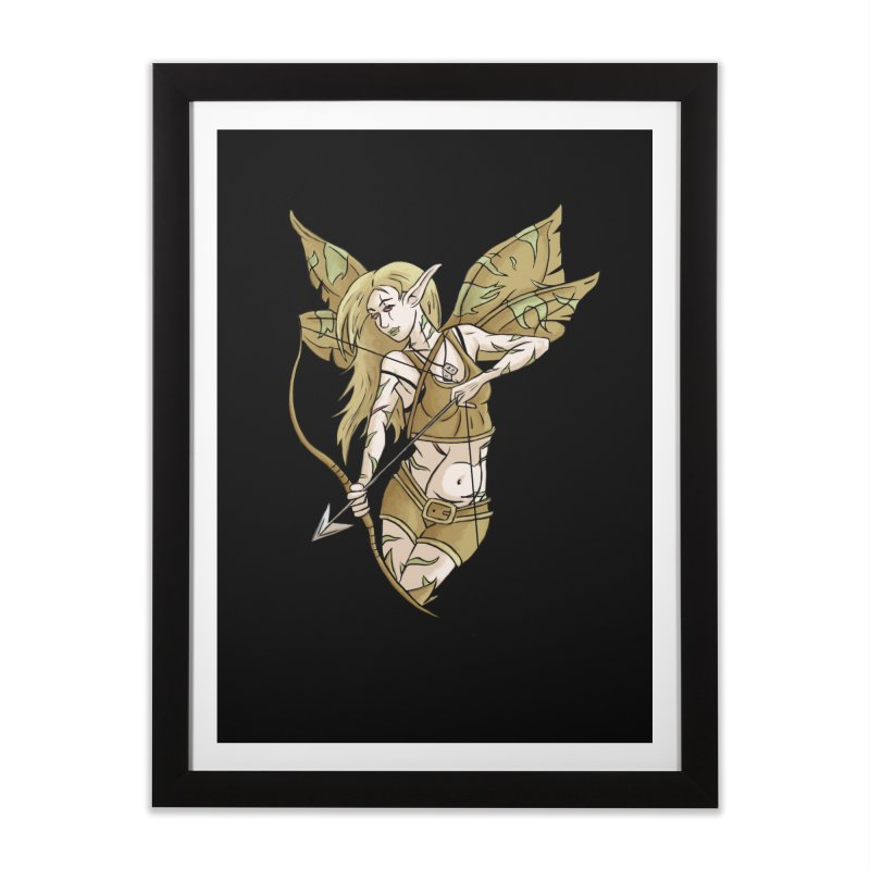Combat Fairy Home Framed Fine Art Print by xanderlewis's Artist Shop