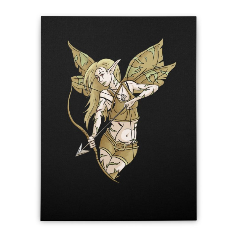 Combat Fairy Home Stretched Canvas by xanderlewis's Artist Shop