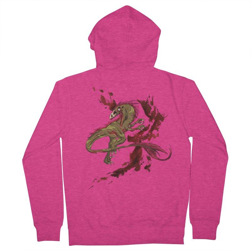 Zombie Raptor Women's Zip-Up Hoody by xanderlewis's Artist Shop