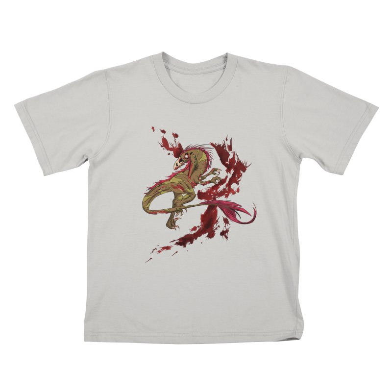 Zombie Raptor Kids T-Shirt by xanderlewis's Artist Shop