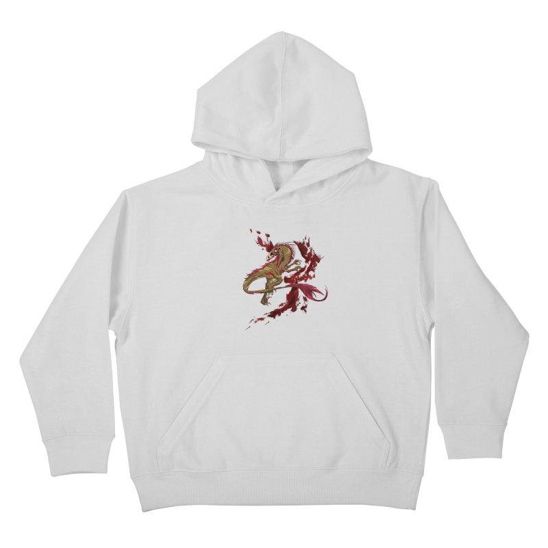 Zombie Raptor Kids Pullover Hoody by xanderlewis's Artist Shop