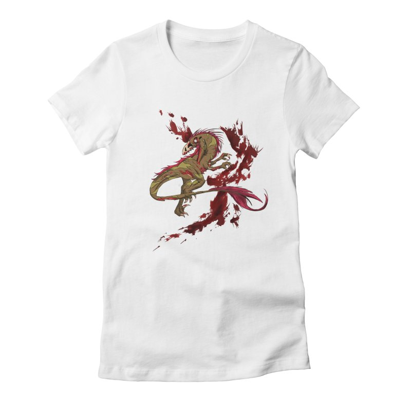 Zombie Raptor Women's Fitted T-Shirt by xanderlewis's Artist Shop