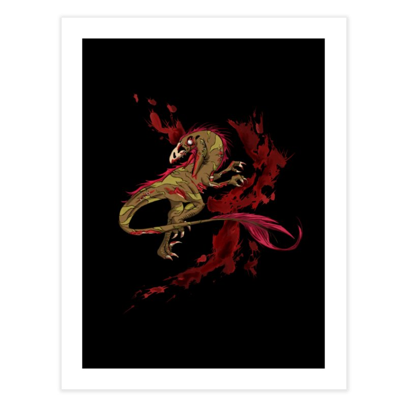 Zombie Raptor Home Fine Art Print by xanderlewis's Artist Shop