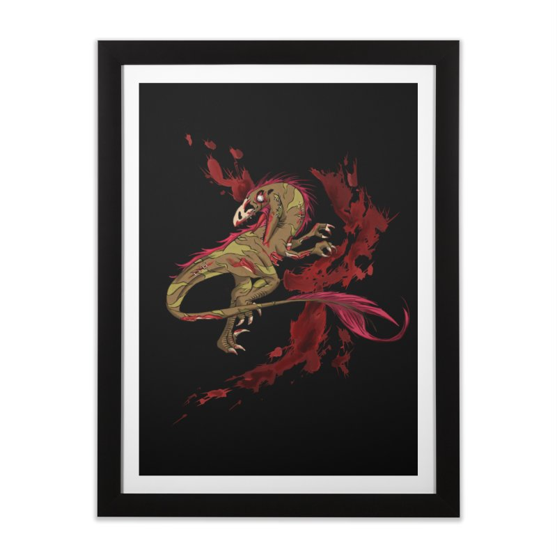 Zombie Raptor Home Framed Fine Art Print by xanderlewis's Artist Shop