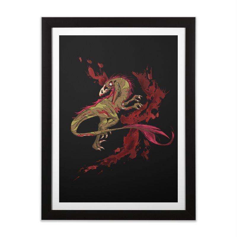Zombie Raptor Home Framed Fine Art Print by xanderlewis's Artist Shop