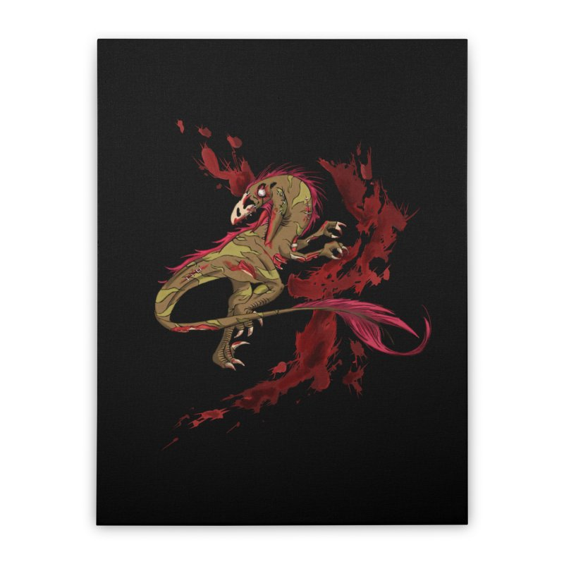 Zombie Raptor Home Stretched Canvas by xanderlewis's Artist Shop