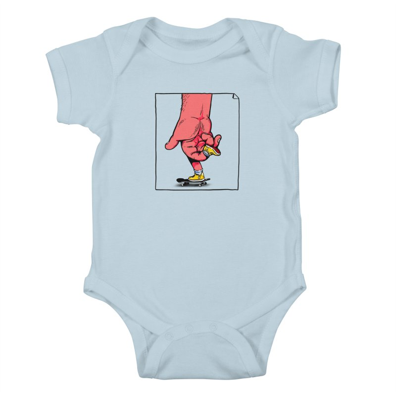 Rolling Kids Baby Bodysuit by xave's Shop