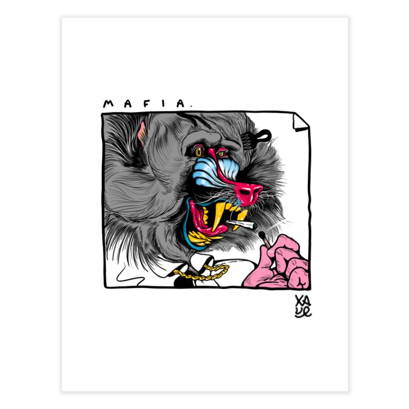 Mafia Mandril Home Fine Art Print by xave's Shop