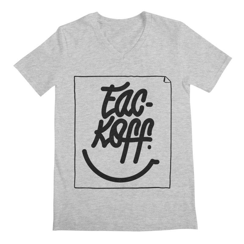 Fac-koff & smile Men's Regular V-Neck by xave's Shop