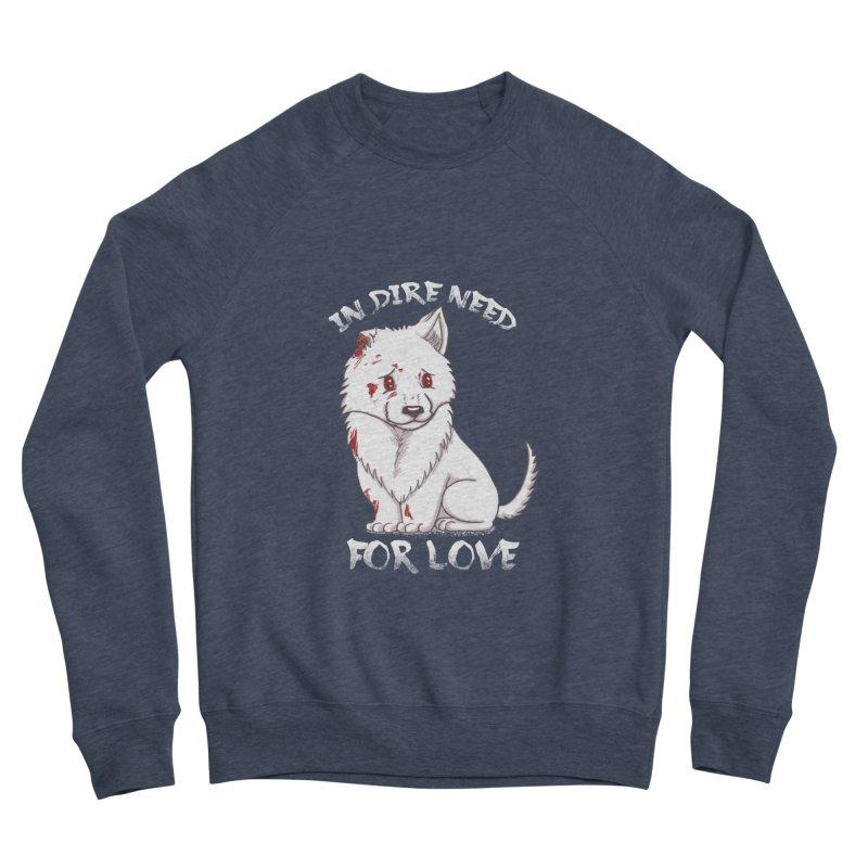 In dire need of love Men's Sponge Fleece Sweatshirt by xiaobaosg