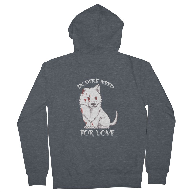 In dire need of love Men's French Terry Zip-Up Hoody by xiaobaosg