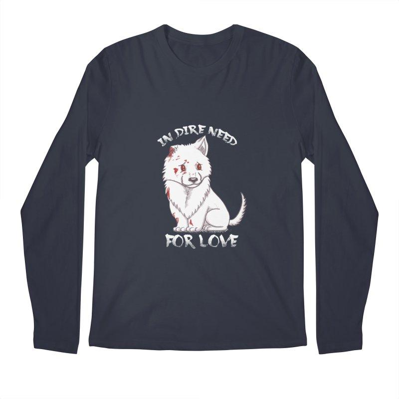 In dire need of love Men's Regular Longsleeve T-Shirt by xiaobaosg