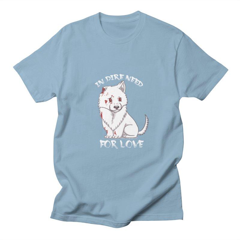 In dire need of love Men's Regular T-Shirt by xiaobaosg