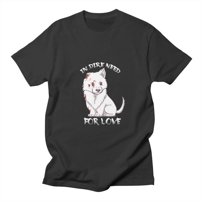 In dire need of love Women's Regular Unisex T-Shirt by xiaobaosg
