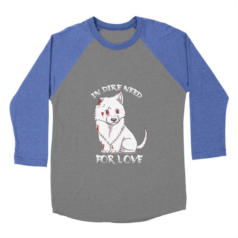 In dire need of love Men's Baseball Triblend Longsleeve T-Shirt by xiaobaosg