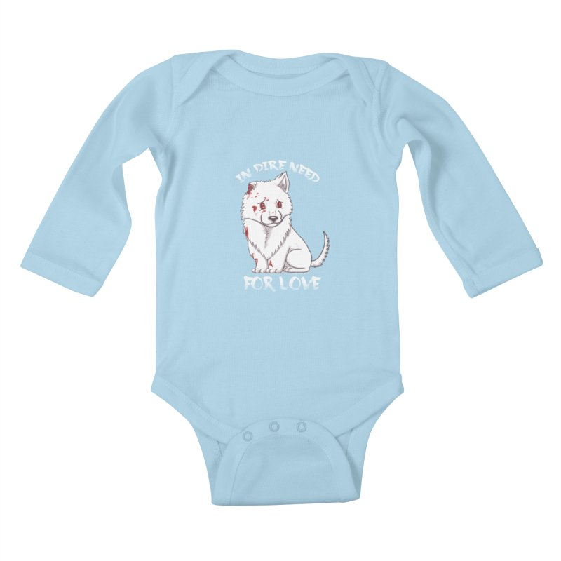 In dire need of love Kids Baby Longsleeve Bodysuit by xiaobaosg