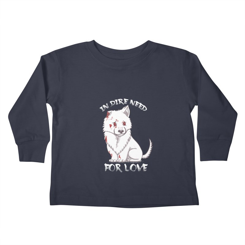In dire need of love Kids Toddler Longsleeve T-Shirt by xiaobaosg