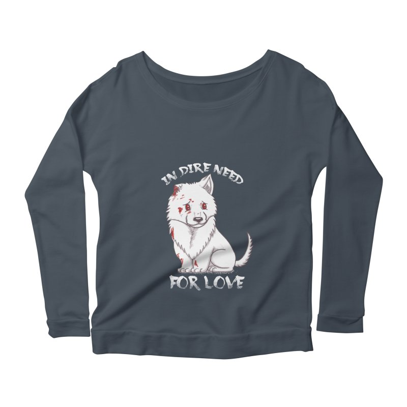 In dire need of love Women's Scoop Neck Longsleeve T-Shirt by xiaobaosg