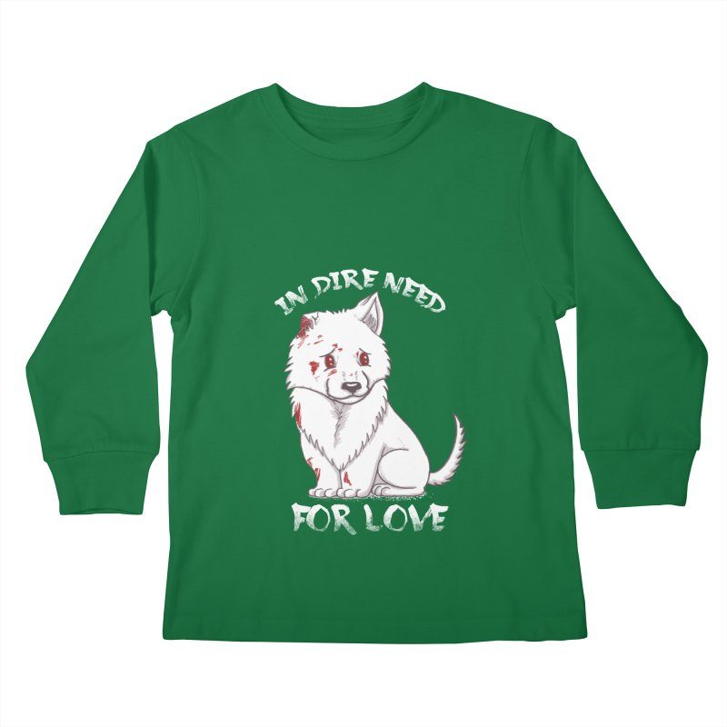 In dire need of love Kids Longsleeve T-Shirt by xiaobaosg