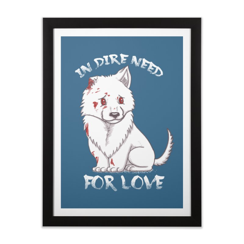 In dire need of love Home Framed Fine Art Print by xiaobaosg