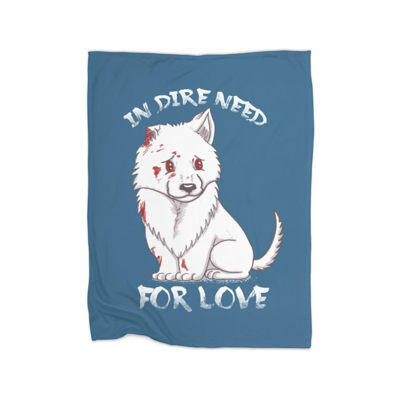 In dire need of love Home Fleece Blanket Blanket by xiaobaosg