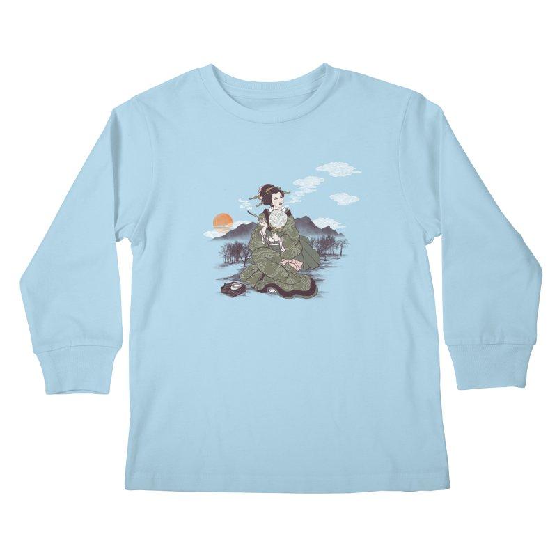 The Cloud Maker Kids Longsleeve T-Shirt by xiaobaosg