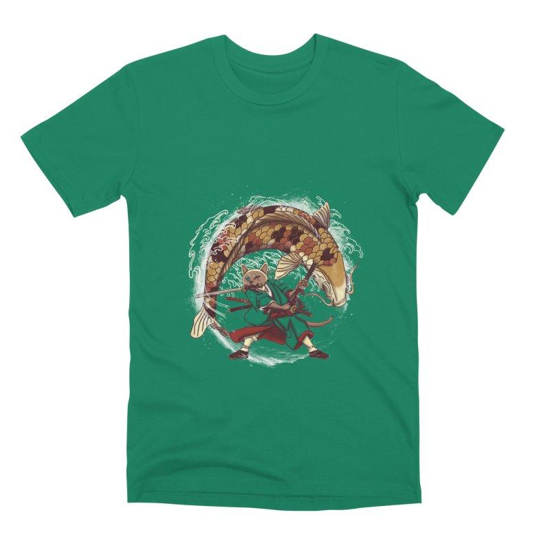 Three Swords Cat Men's Premium T-Shirt by xiaobaosg