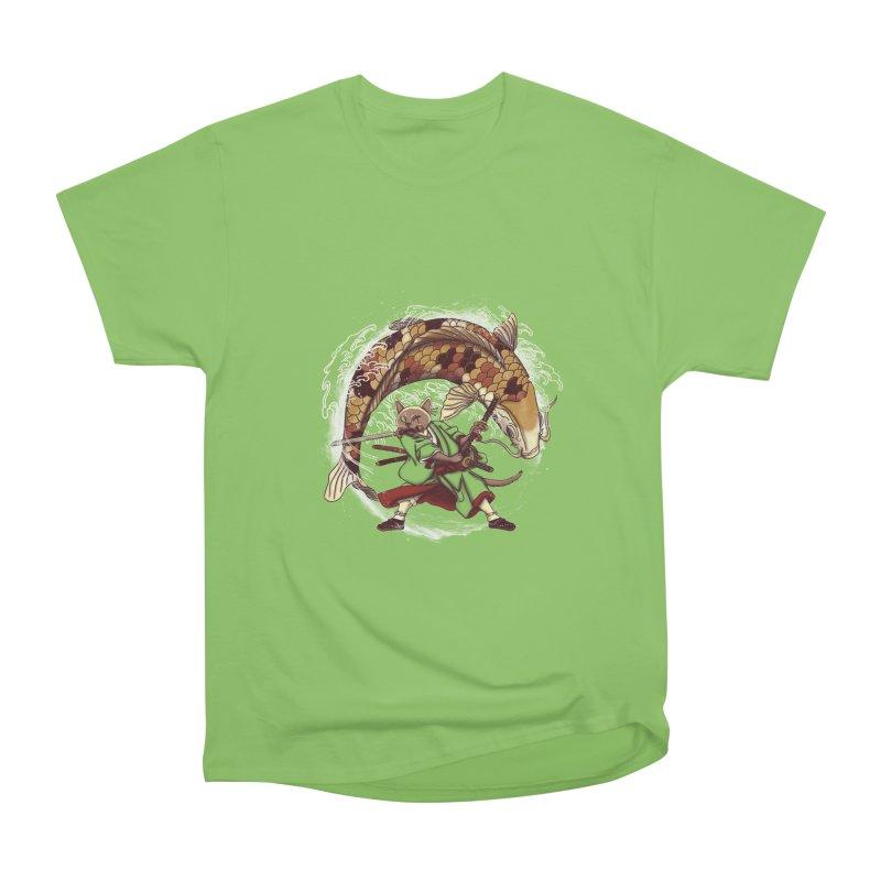 Three Swords Cat Men's Heavyweight T-Shirt by xiaobaosg