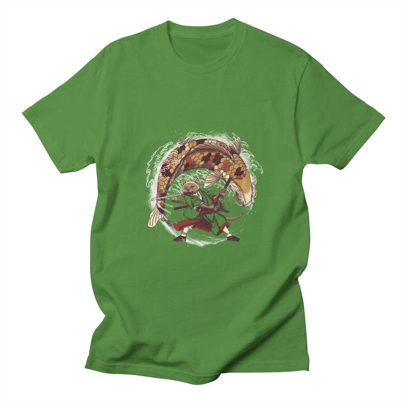 Three Swords Cat Men's Regular T-Shirt by xiaobaosg