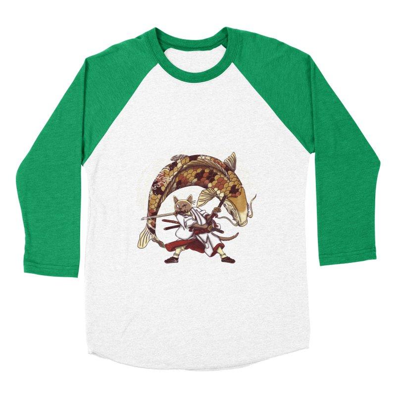 Three Swords Cat Men's Baseball Triblend Longsleeve T-Shirt by xiaobaosg
