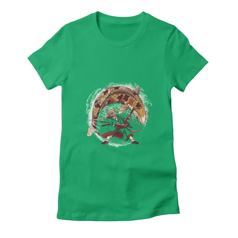 Three Swords Cat Women's Fitted T-Shirt by xiaobaosg