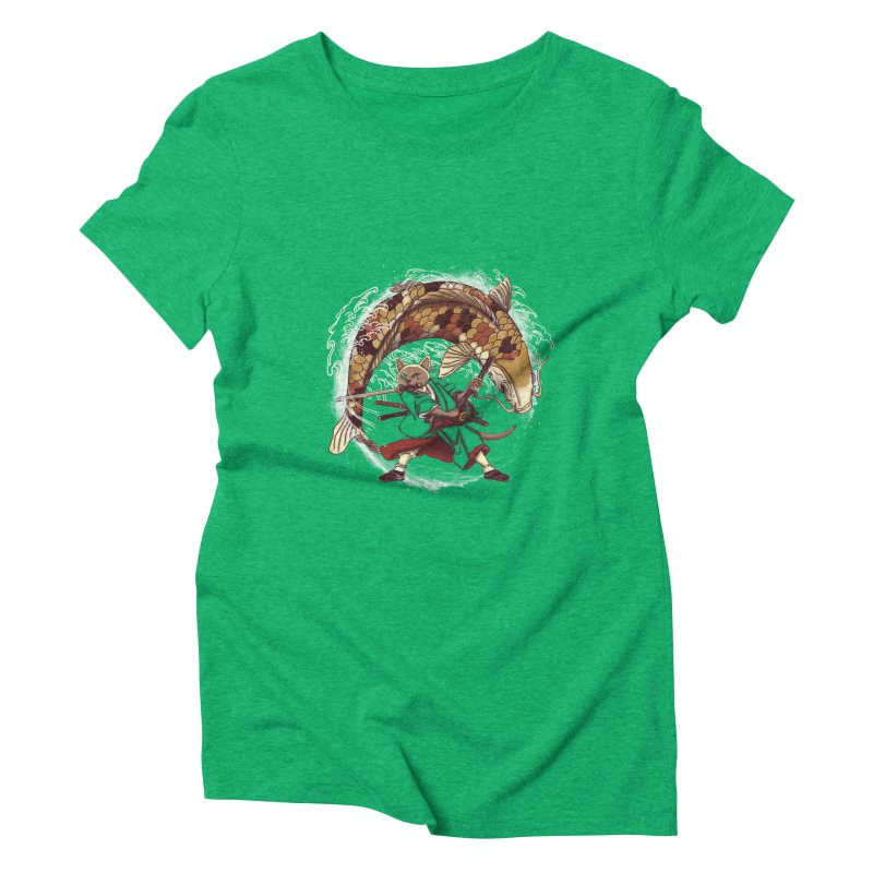 Three Swords Cat Women's Triblend T-Shirt by xiaobaosg