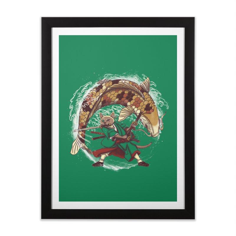 Three Swords Cat Home Framed Fine Art Print by xiaobaosg