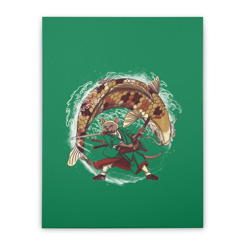 Three Swords Cat Home Stretched Canvas by xiaobaosg